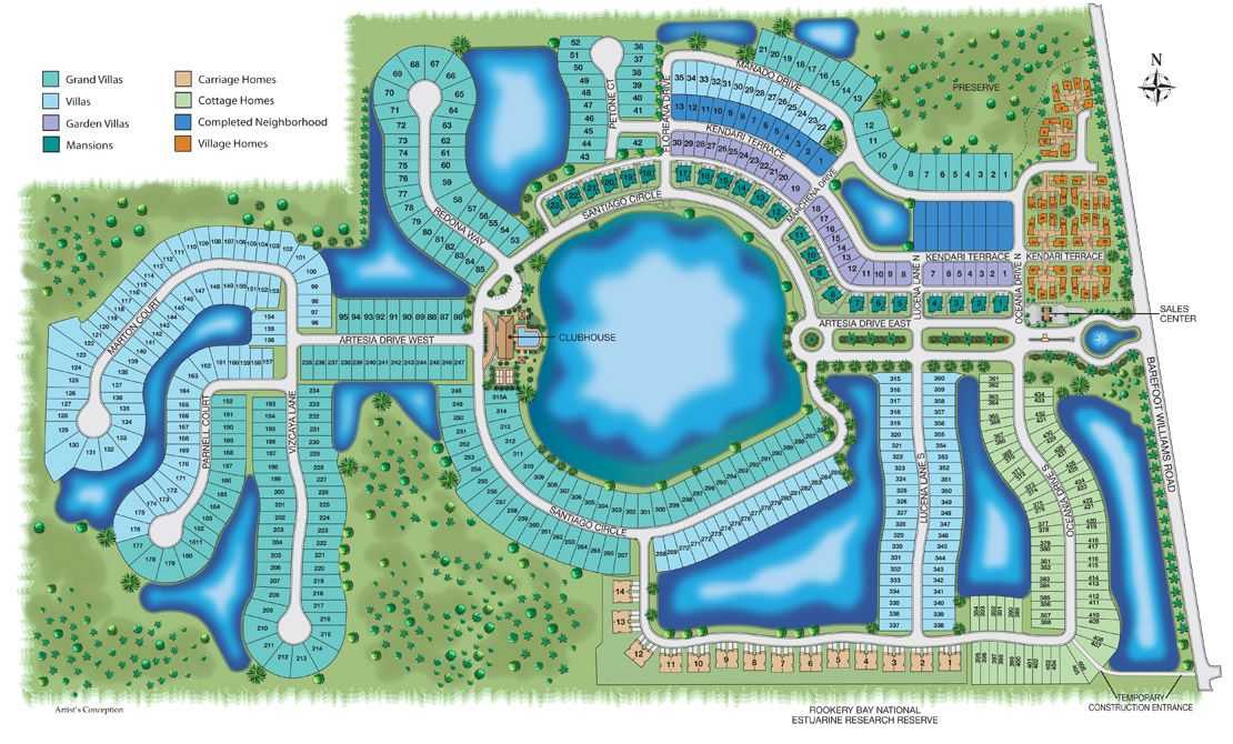 Artesia Naples FL Site Map